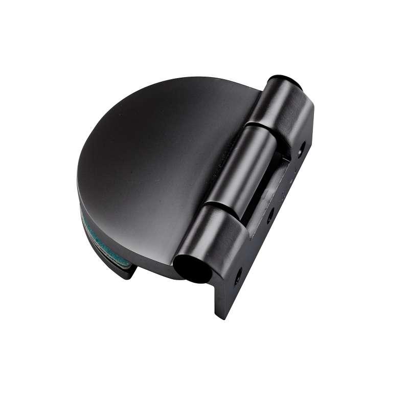 Infraworld Türband schwarz matt für 6 bzw. 8 mm Glastür Saunatür 1 Stück
