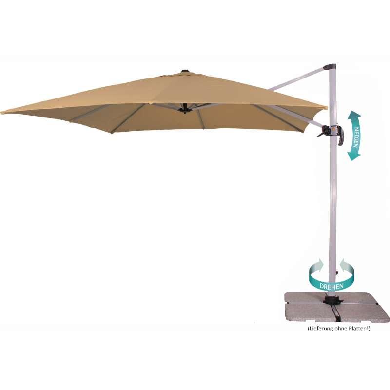 Schneider Schirme Ampelschirm 3030 Freiarmschirm 300 x 300 cm 637-16 sand Schirm