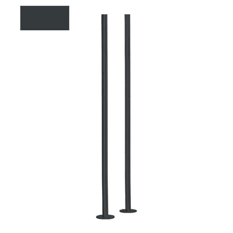 Heibi Briefkastenständer 130 cm aus Stahl grau RAL 7016 zum Andübeln