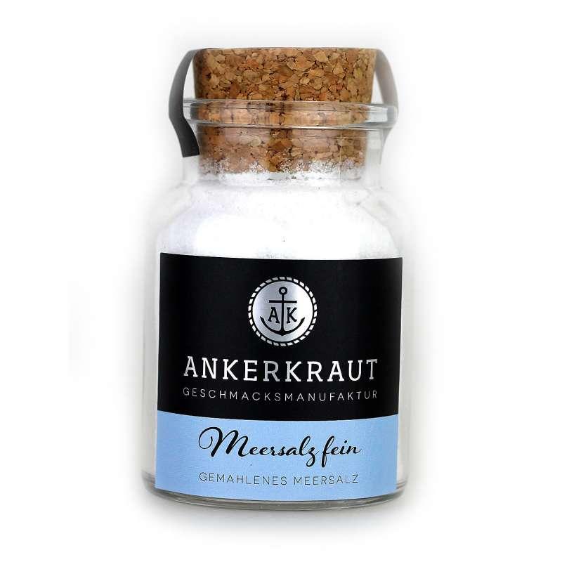 Ankerkraut Meersalz fein Salze im Korkenglas 170 g Gewürzsalz