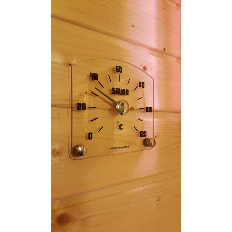 Nikkarien Saunia Sauna Thermometer bis 120 °C Größe 15x14 cm Polycarbonat 555