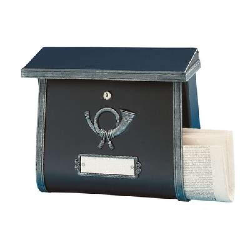 Heibi Briefkasten MULTI verzinkt pulverbeschichtet schwarz Antik 64104-026