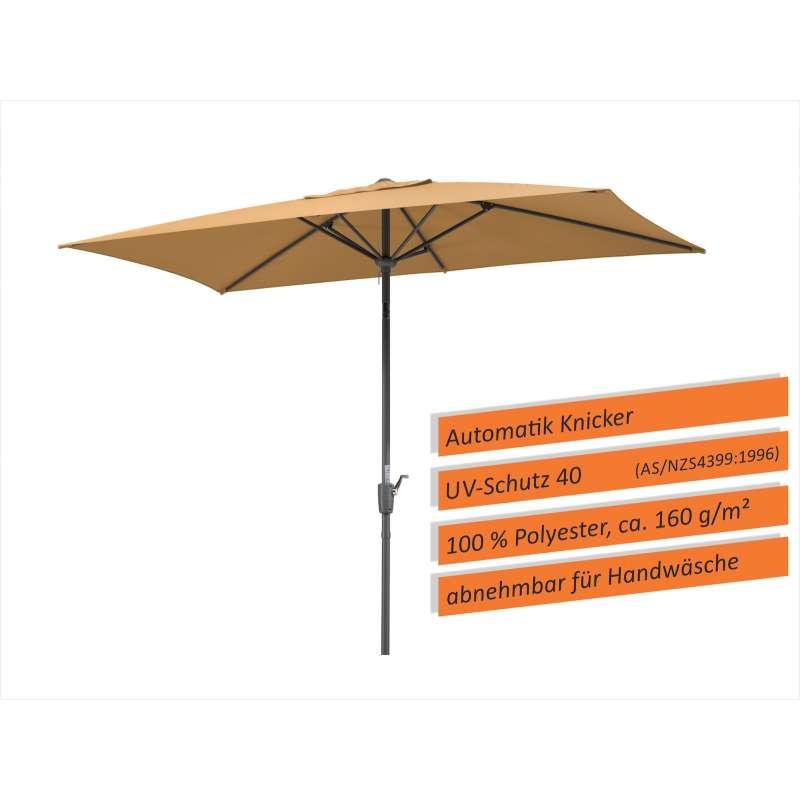 Schneider Schirme Tunis Sonnenschirm 270 x 150 cm Mittelmastschirm sand Balkonschirm