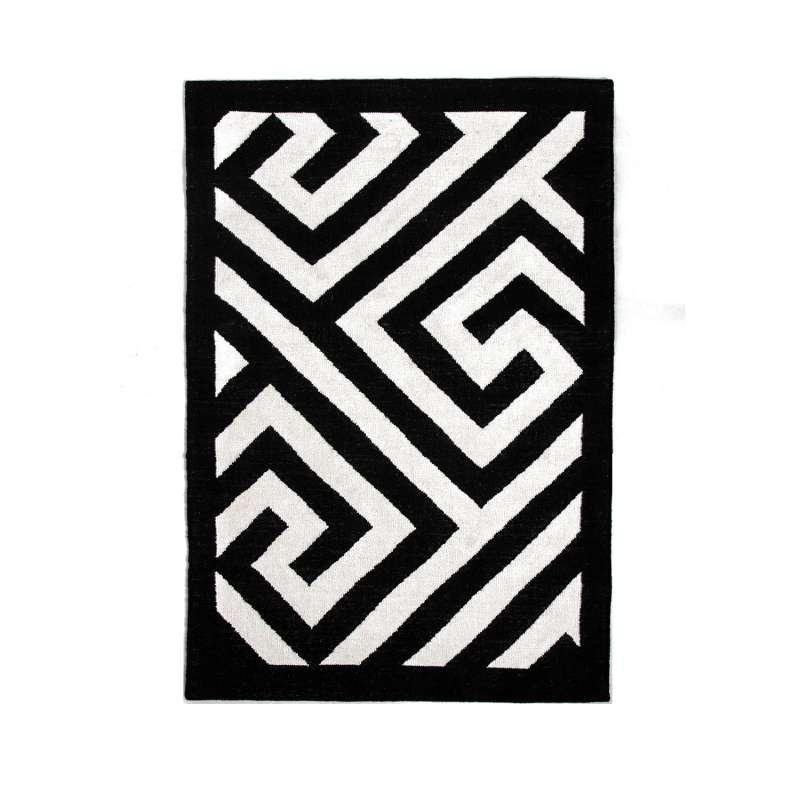 Fab Hab Outdoorteppich Vancouver Black aus recycelten PET-Flaschen schwarz 120x180 cm