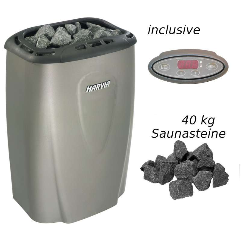 Harvia Saunaofen Moderna E 6,0 kW Elektrofen V60E Platinum Saunaheizgerät