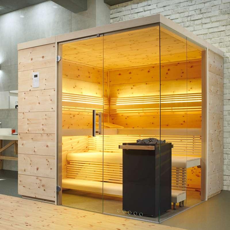 Infraworld Sauna Aurora Premium Sonderausstattung 210 x 210 cm 391035