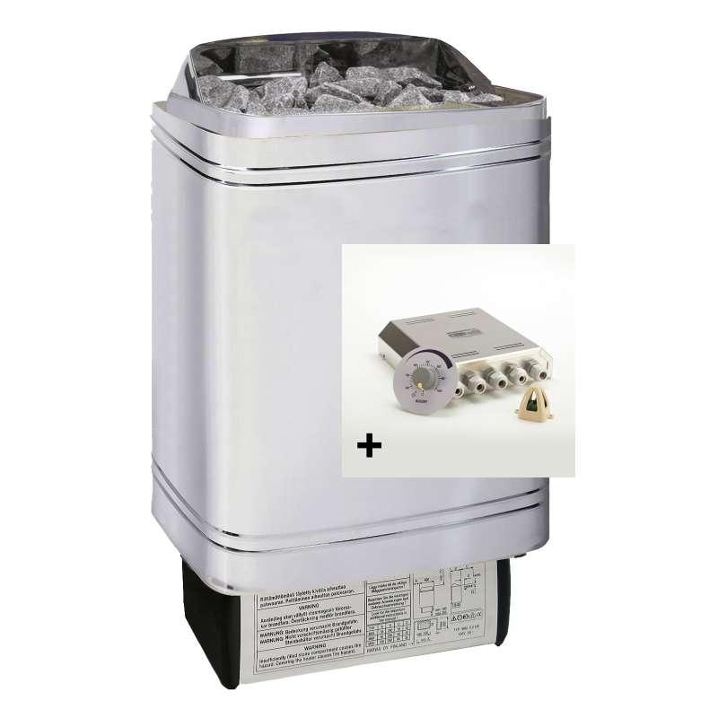 Infraworld Saunaofen 9,0 kW Hotline V2 inkl. Saunasteuerung Saunacontrol X