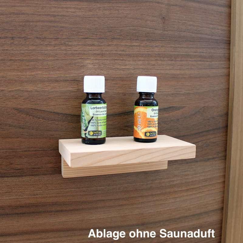 Infraworld Sauna Ablage Design 150 in Fichte Saunaregal Saunazubehör S2237-1