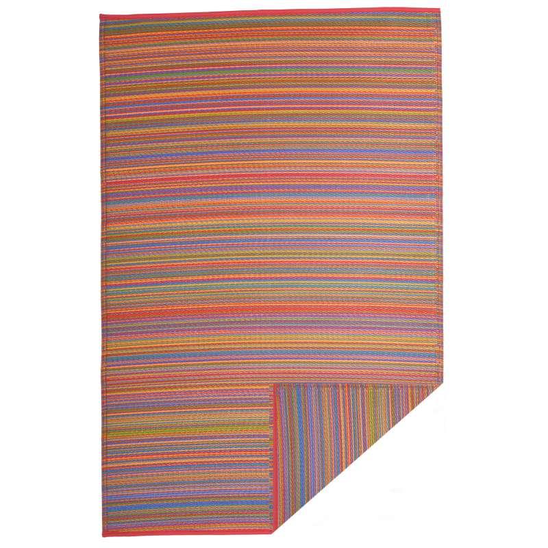 Fab Hab Outdoorteppich Cancun Multicolor aus recyceltem Plastik bunt 150x240 cm