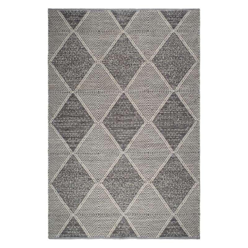Fab Hab Outdoorteppich Hampton Gray aus recycelten PET-Flaschen grau 60x90 cm