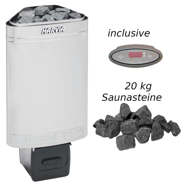 Harvia Saunaofen Delta EE 2,3 kW Elektroofen D23EE Saunaheizung Saunaheizgerät
