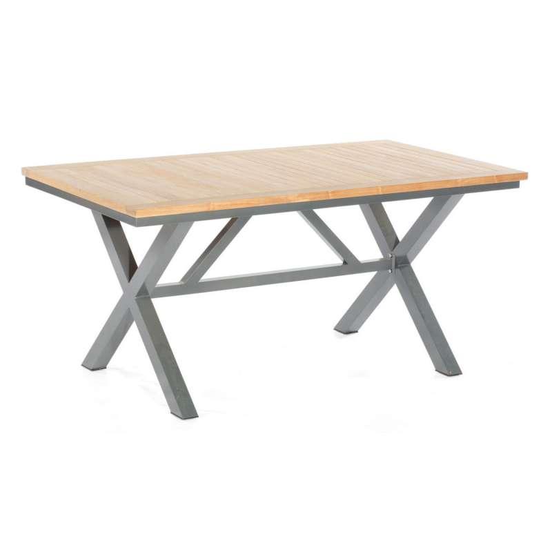 Sonnenpartner Gartentisch Base-Spectra 160x90 cm Aluminium anthrazit Tischsystem mit wählbarer Tisch