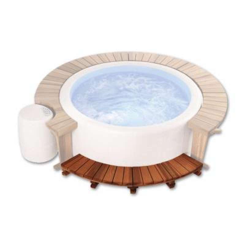 Softub Holzeinstieg für Softub Whirlpool Sportster mit 1,50 m Außendurchmesser