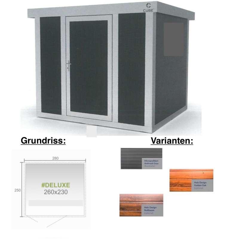 Cube FX Gartenhaus Deluxe S222 260x230x230 cm Straight Line Gerätehaus Geräteschuppen
