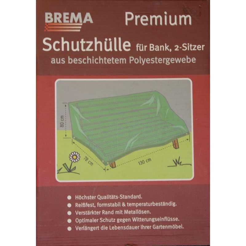 Brema Schutzhülle Premium für 2-Sitzer Bank 130x78x80 cm Polyestergewebe grau