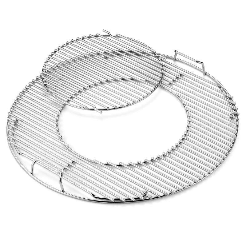 Weber Grillrost Einsatz - Gourmet BBQ System aus verchromten Stahl für Grills mit Ø 47 cm