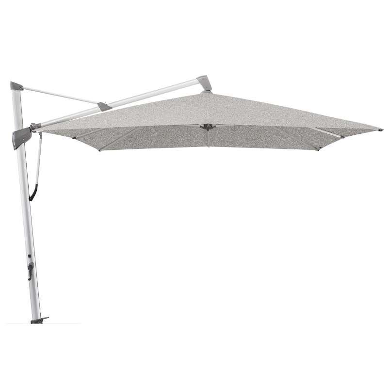 GLATZ Sonnenschirm SOMBRANO® S+ 350 x 350 cm Stoffklasse 5 Silver-Mélange 652