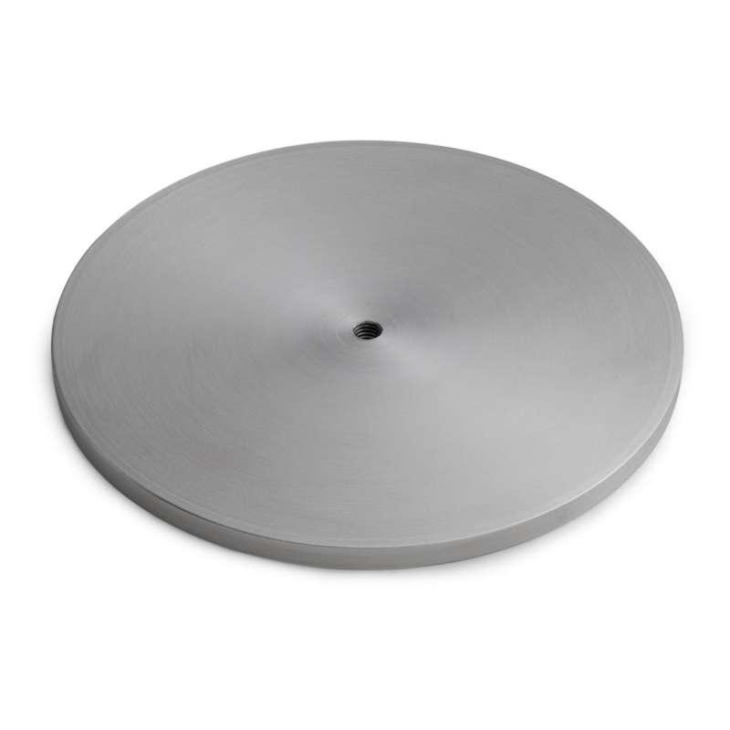 höfats Standfuß für Erdstab GRAVITY CANDLE silber Edelstahl 16,5 cm Windlicht
