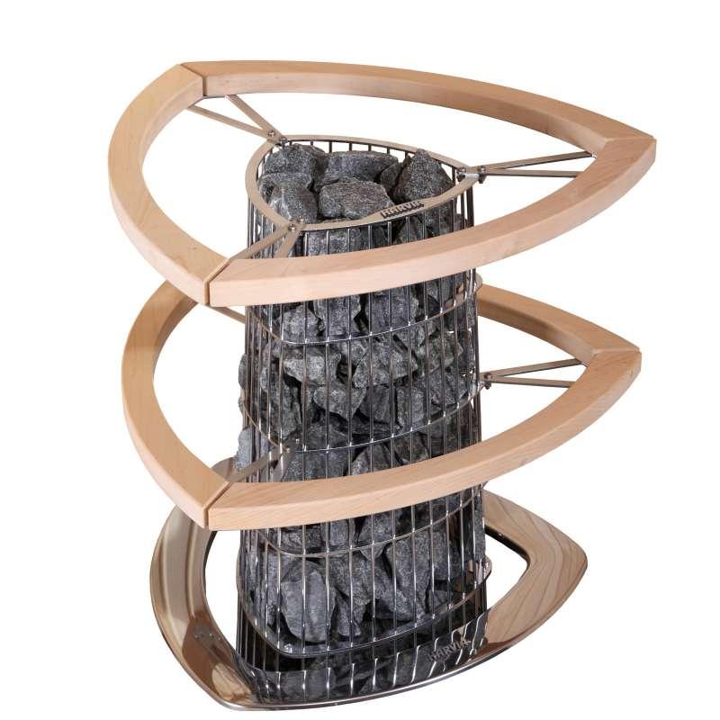Harvia HPI4 Doppeldecker-Schutzgeländer Holzgeländer Zubehör für Saunaofen Kivi