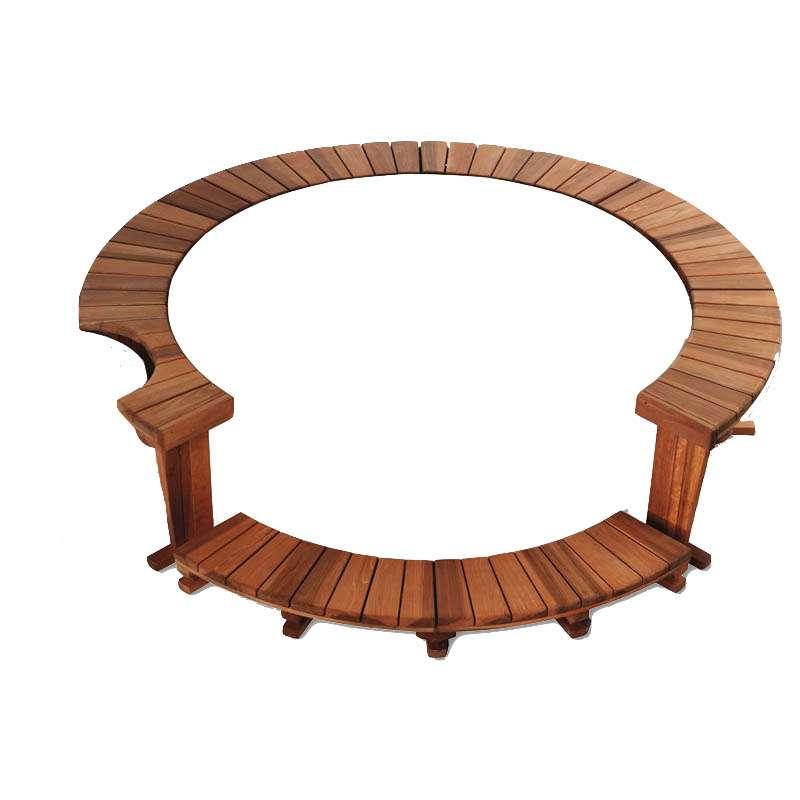 Softub Holzumrandung inkl Einstieg für Whirlpool Legend 2,5 m Außendurchmesser