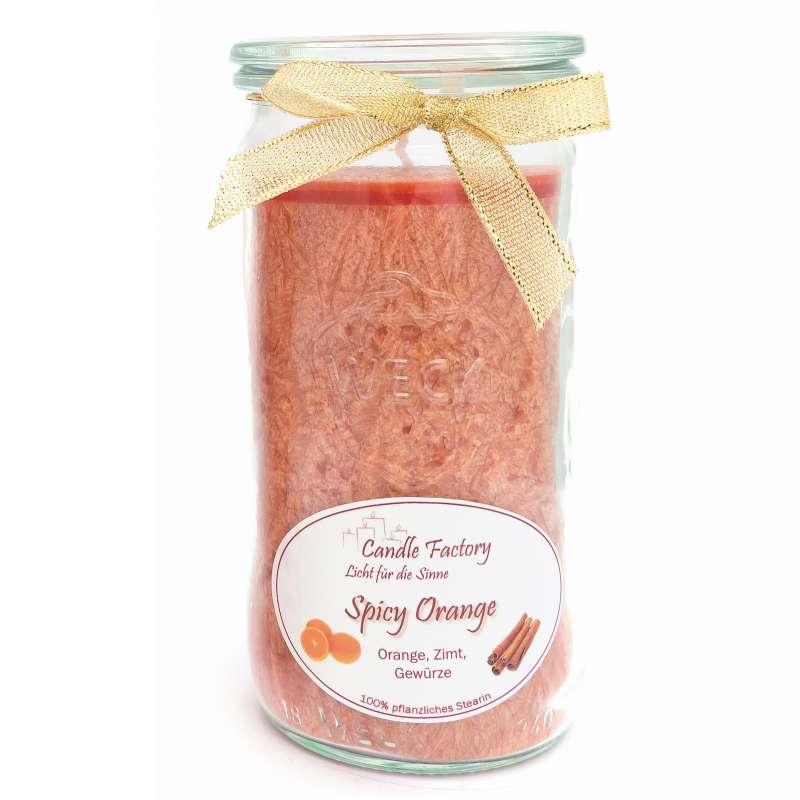 Candle Factory Mini Jumbo Spicy Orange Duftkerze Dekokerze 307-045