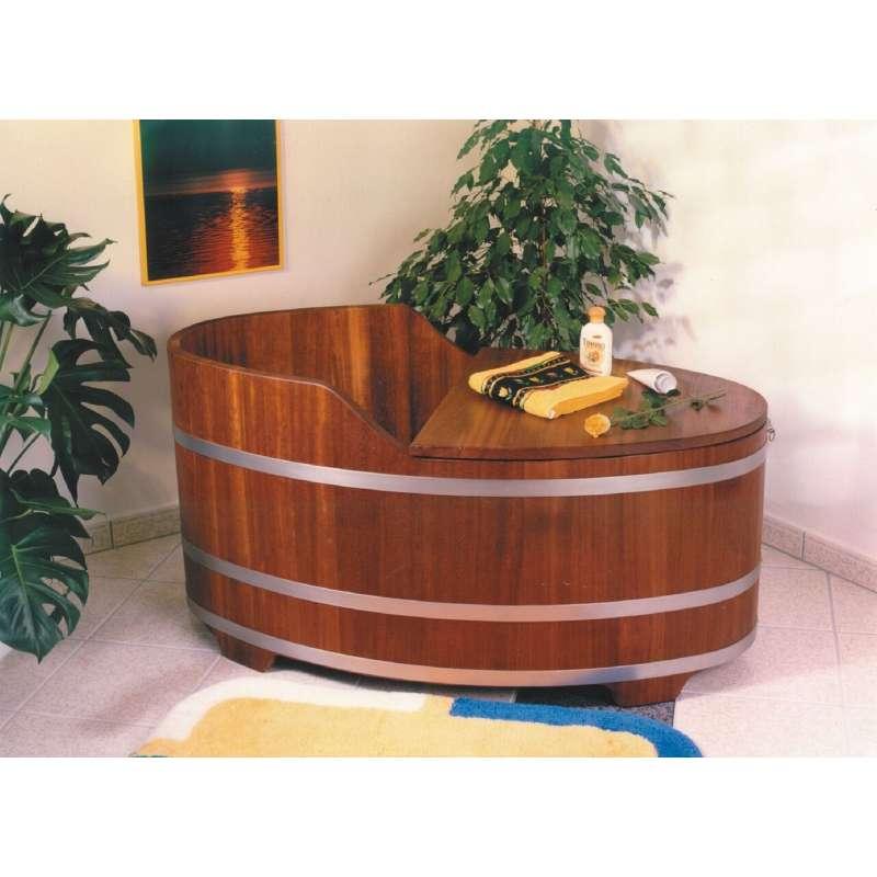 Achleitner Badewanne Holzwanne ALFA aus Kambalaholz 452