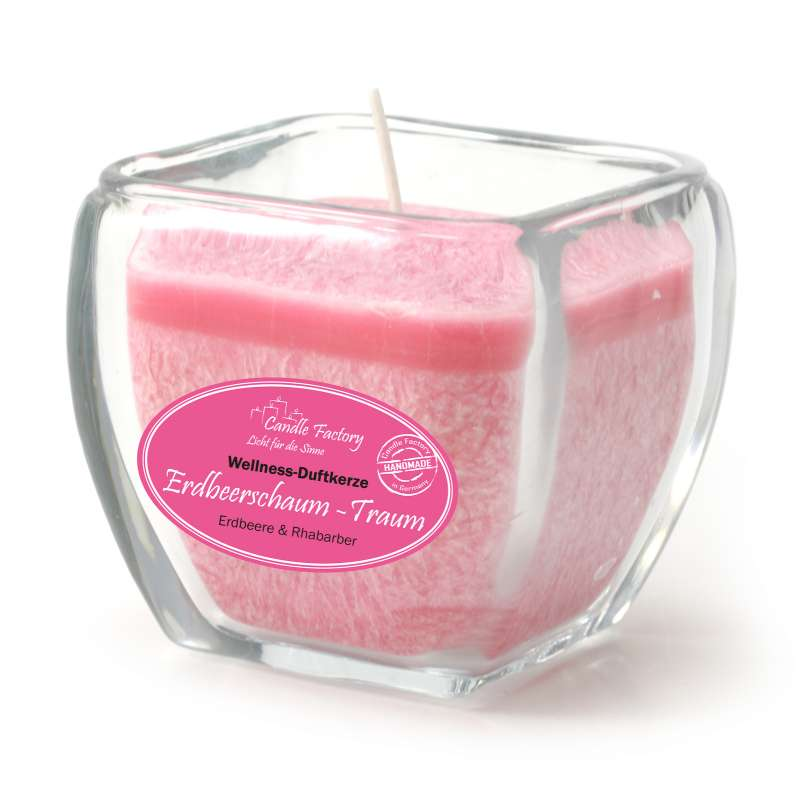 Candle Factory Wellness Duftkerze Erdbeerschaum-Traum Dekokerze 800-013