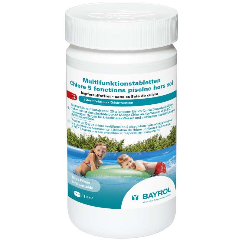 Bayrol Multifunktionstabletten 20 g kupfersulfatfrei 1 kg Dose Quick-Up Pools