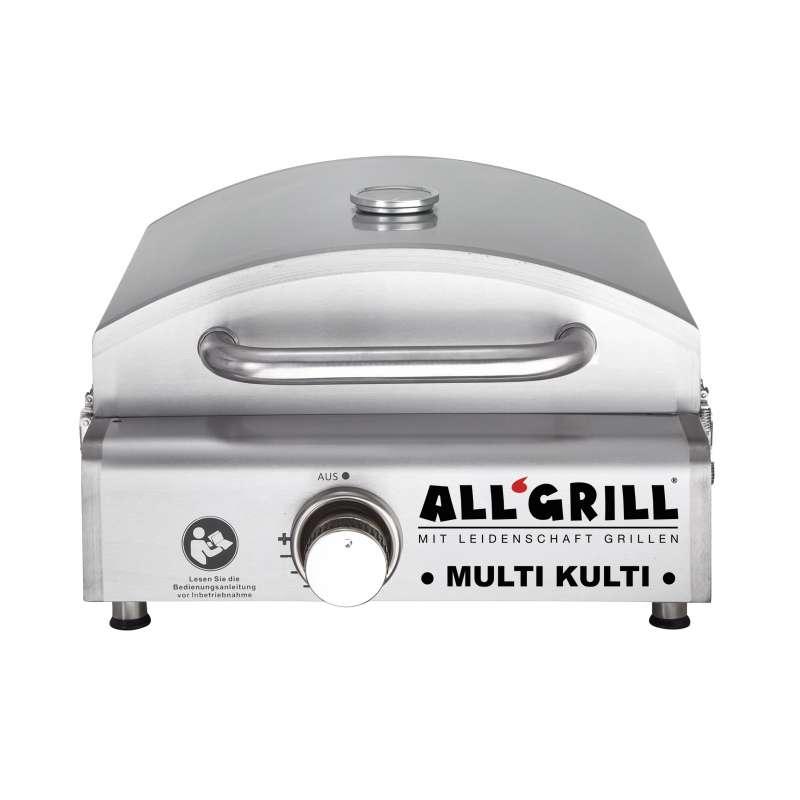 Allgrill MULTI-KULTI Gasgrill mit Steakzone-Keramikbrenner und Zündsicherung