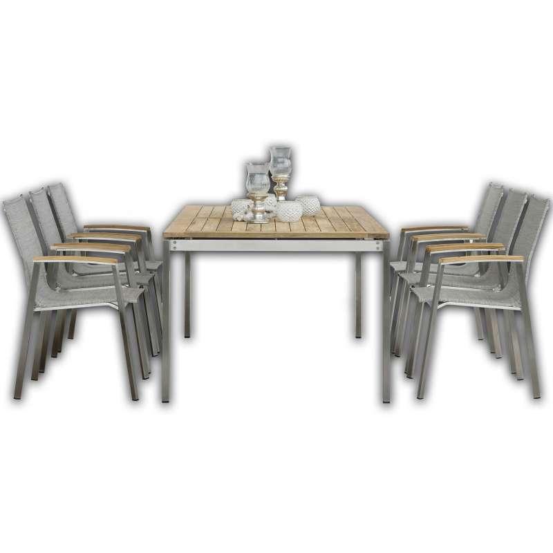 Stern Sitzgruppe New Top 7-teilig SET Tischgruppe Kompletttgarnitur Gartengarnitur