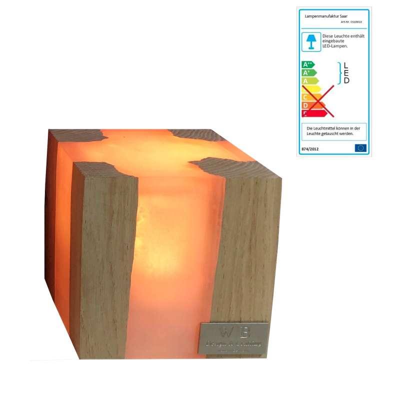 Lampenmanufaktur Saar Tischleuchte Cube S 10 x 10 x 10 cm LED -EEK: A++ bis A / Spektrum: A++ bis E