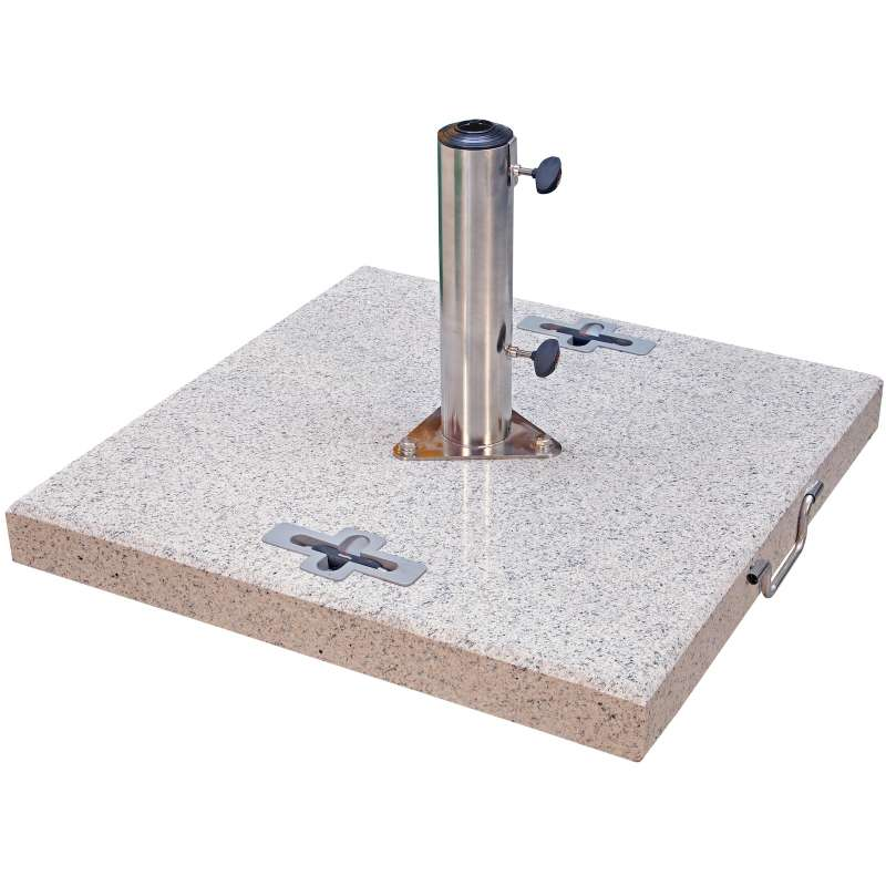 Doppler Granitsockel 90 kg für Rohr ø 32 x 70 mm Schirmsockel 70 x 70 x 8 cm