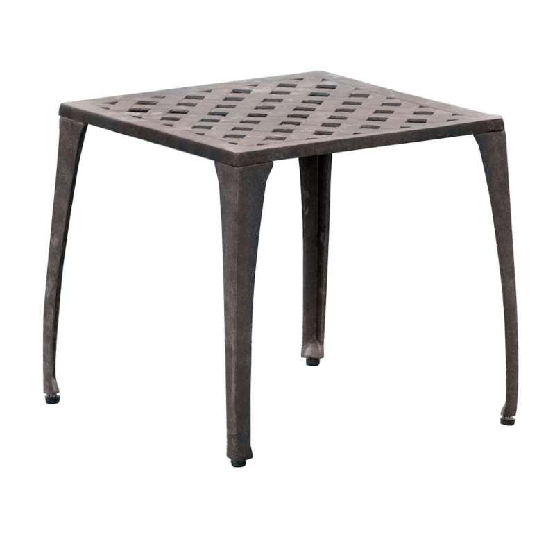 Inko Fußhocker Duke/Nexus Alu-Guss bronze oder weiß 45x45x44 cm Sitzhocker Beistelltisch