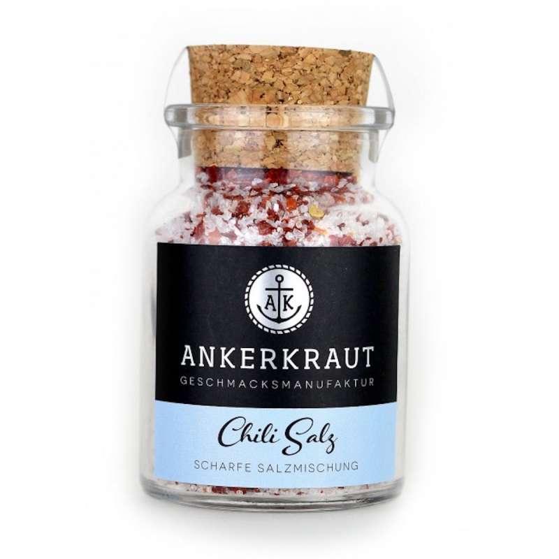 Ankerkraut Chili Salz im Korkenglas 150 g Gewürzsalz Meersalz gemahlener Chili