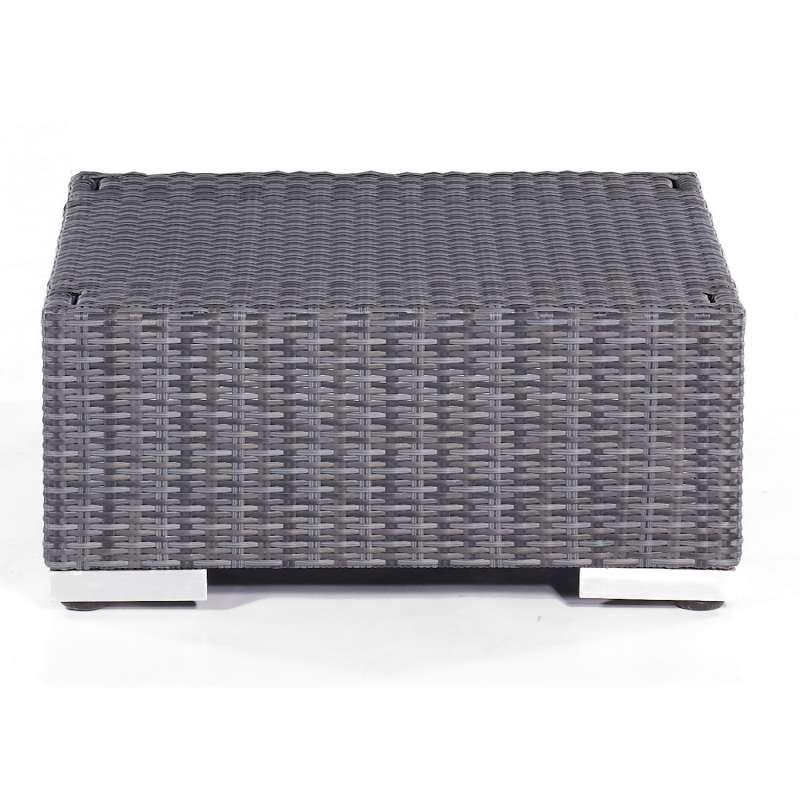 Sonnenpartner Lounge-Hocker Residence Aluminium mit Polyrattan graphit-schwarz inklusive Kissen Sitz