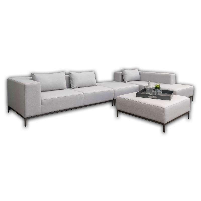 Stern 5-teilige Lounge-Sitzgruppe Taavi Aluminium anthrazit/Outdoorstoff kristall silber Loungeset m