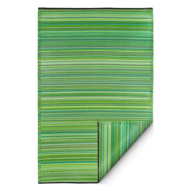 Fab Hab Outdoorteppich Cancun Green aus recyceltem Plastik grün 90x150 cm