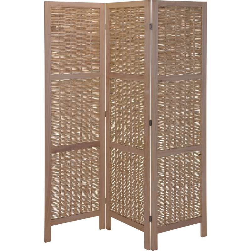 Paravent Raumteiler 3 teilig Wandschirm faltbarer Sichtschutz Holz ca. 130 x 170 X 2 cm