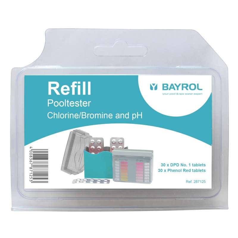 Bayrol Nachfüllpack für Pooltester pH Wert und Chlor/Brom 2 x 30 Tabletten