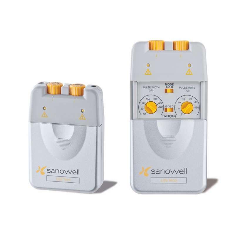 Sanowell Life Tens Schmerztherapie Gerät mit Dauerelektroden und Elektrodengel