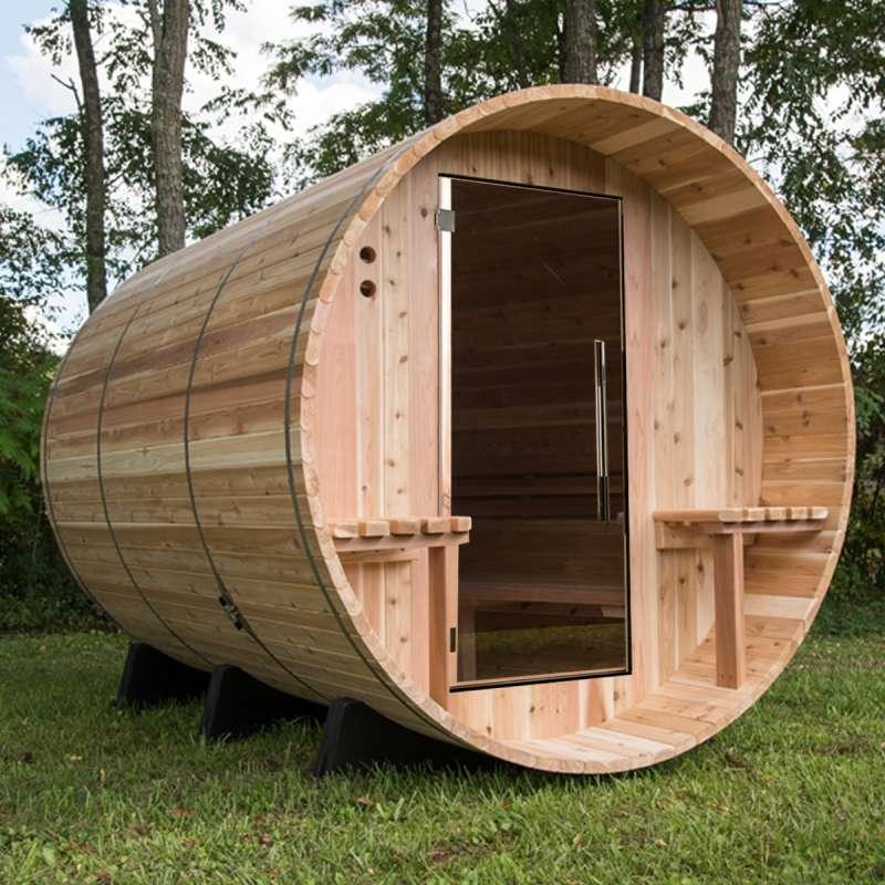 Almost Heaven Saunas WESTON Fasssauna Saunafass für 6 Personen ca. 183x244 cm