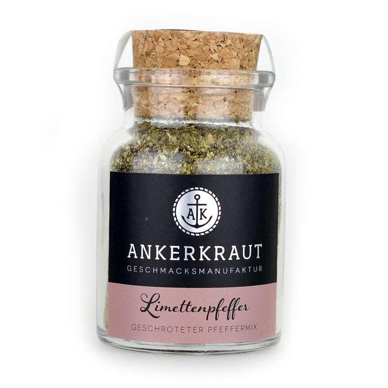 Ankerkraut Limettenpfeffer Pfeffer Korkenglas 75g Pfeffergewürz Pfeffermischung