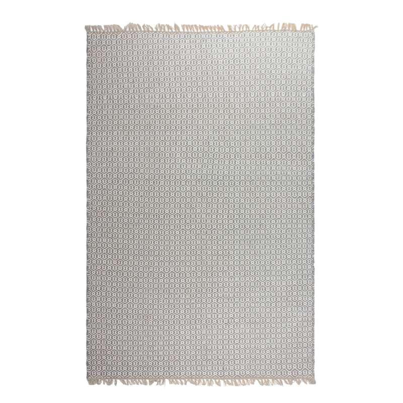 Fab Hab Outdoorteppich Lancut Gray aus recycelten PET-Flaschen grau 90x150 cm