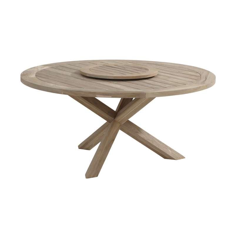 Aqua-Saar Dining Table Nizza ø 160 cm mit Drehteller Nizza Instant Grey