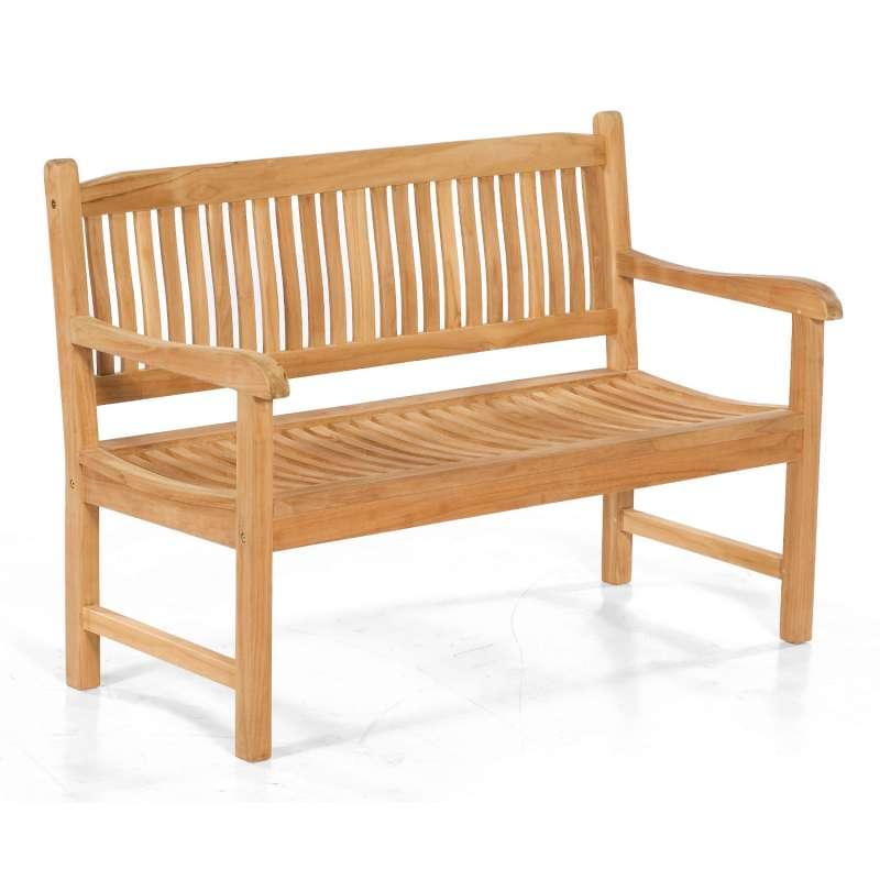 Sonnenpartner Sitzbank Buckingham 130 cm Teakholz Pure 2-Sitzer Bank Gartenbank