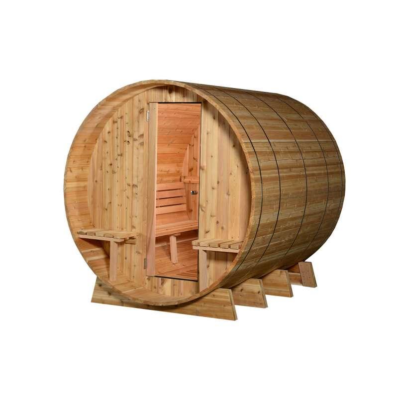 Almost Heaven Saunas GRANDVIEW Fasssauna Saunafass für 8 Personen ca.244x214 cm
