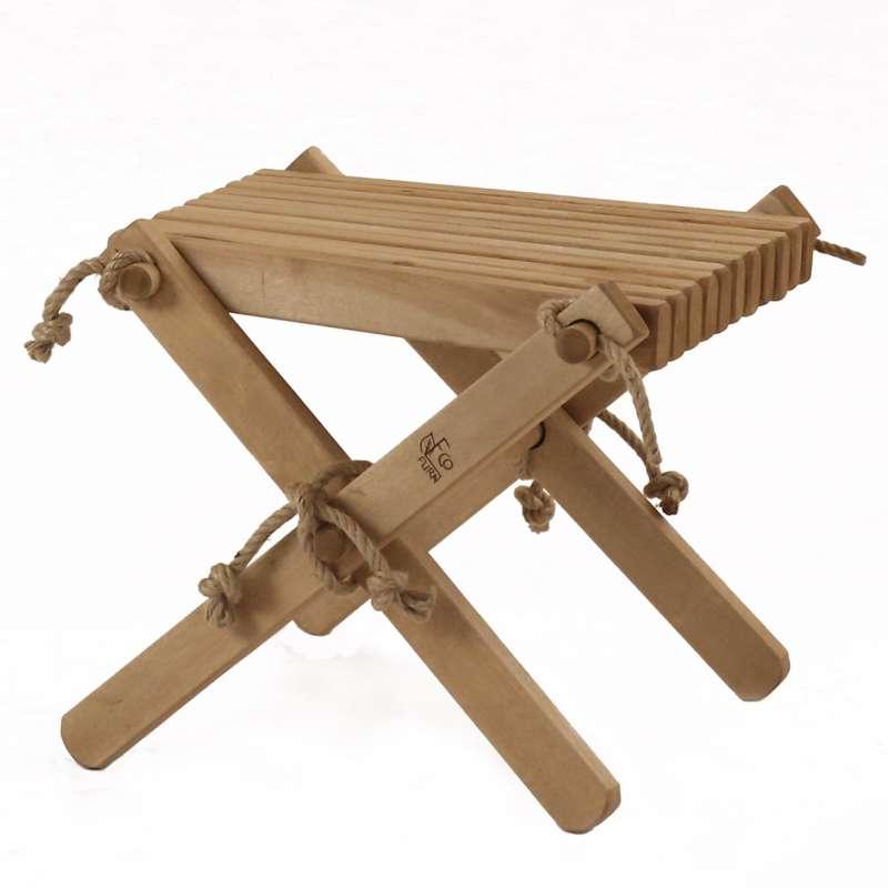 EcoFurn Lilli Hocker Beistelltisch Fußstütze Holz Birke Hellbraun geölt