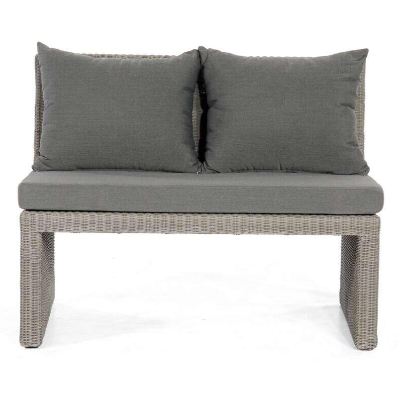 Sonnenpartner 2-Sitzer Loungesofa Savannah Aluminium mit Polyrattan stone-grey Lounge-Sofa