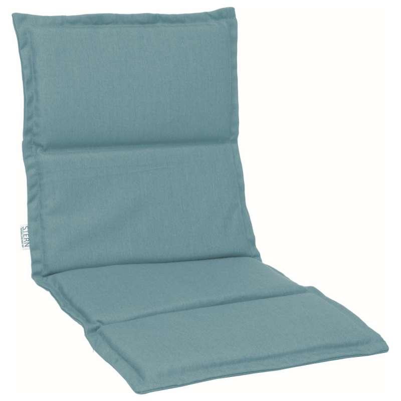 Stern Auflage für Stapelsessel Outdoorstoff hellblau uni 93x46 cm Universalauflage Sitzkissen