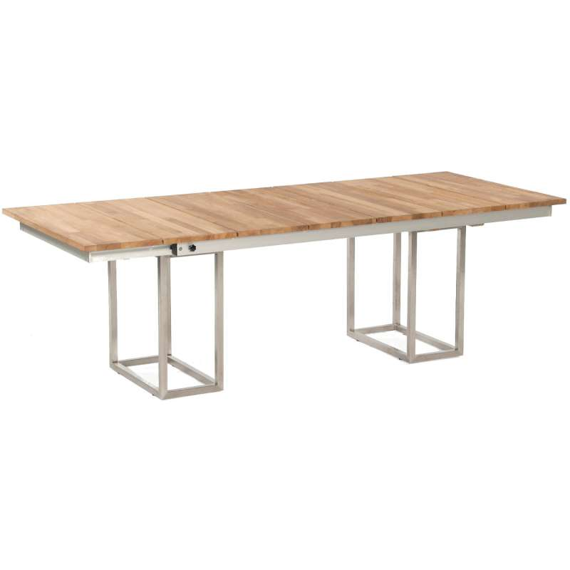 Sonnenpartner Gartentisch Imperator ausziehbar 205/340x100 cm Edelstahl/Teakholz Old Teak Tisch Esst
